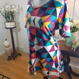 LuLaRoe sz sm tunic colorful print